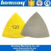 China Triangle Electroplated Diamond Polishing Pad Grinding Discs Concrete Plate for Suppliers factory