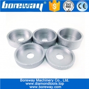 China Vacuum Brazed Concrete Grinding Cup Wheel wholesale diamond hand profile wheel for ceramic glass stone factory