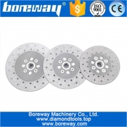 الصين مصنع Vacuum Brazed Diamond Cutting Grinding Disc with 5/8-11 flange Double Sided Grinding concrete stone grinding wheel china supplier