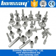 China Vacuum Brazed Diamond Router Bits for Granite Marble Router Cutter with 1/2