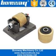 China Vacuum Brazed Different Type Bush Hammer Roller Head Block For Sandblast Finish Suppliers factory