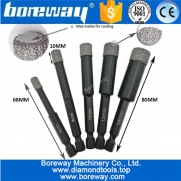 China Vacuum Brazed Dry drilling core bits with quick-fit shank 6mm-14mm best quality vacuum brazed diamond core drill bits factory