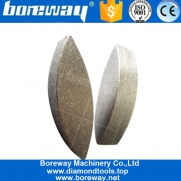 China Wet Dry Use Oval Sharp Segment For Concrete Welding On HTC Trapezoid Pad For Grinder Floor Surface factory