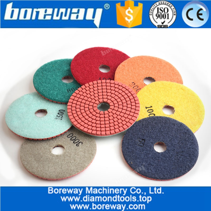 7Pcs Diamond Polishing Pads 4 Inch Wet Resin Granite Marble Stone Grinding Discs