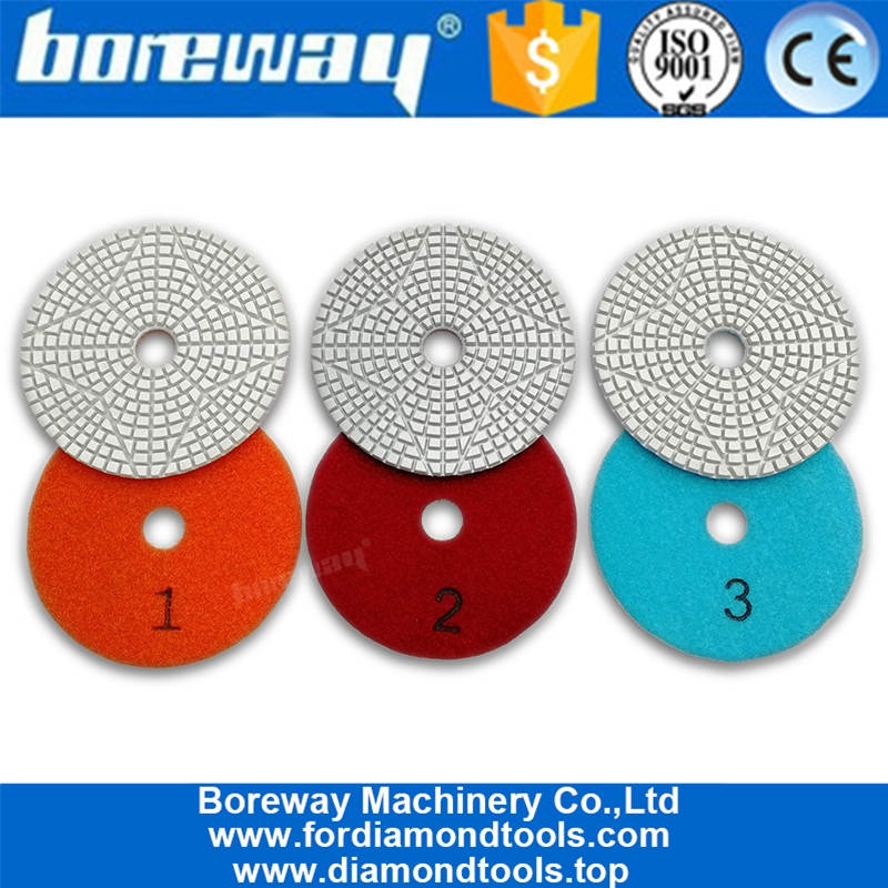 "3Pcs 3/"" Diamond Floor Grinding Disc Resin Bond Polishing Pads Wheel for Ceramics"