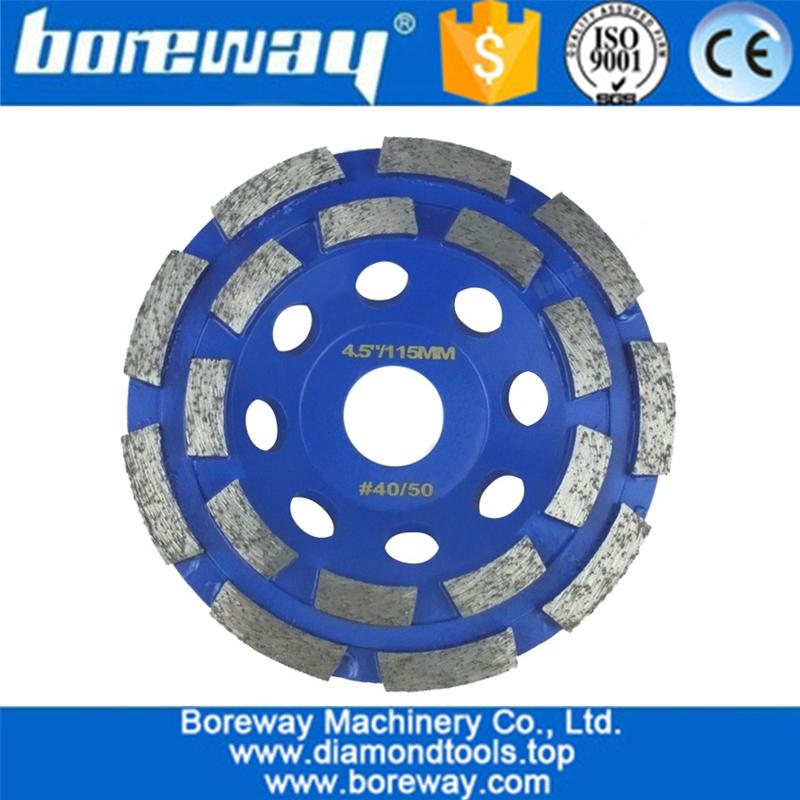 China Double Row Segmented Diamond Cup Wheel Supply Double
